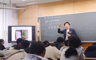 潟東小学校での特別授業